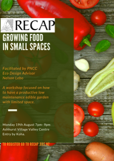 Growing Food in Small Spaces. 19th August 2019 | RECAP Inc. on small food gift ideas, 4 foot garden, small food safe boxes, small gardens landscaping, small food forest, small food recipes, small food house, raised bed vegetable garden, small front gardens, small food border, small domino's pizza, small food plants, small food elevator, small food building, small food toys, small food design, small food business, small food games, small food shop, sustainable vegetable garden,